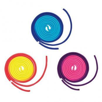 Скакалка гимнастическая многоцветная 3м