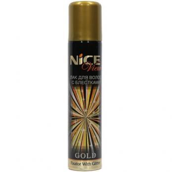 Лак для волос с блестками NICE